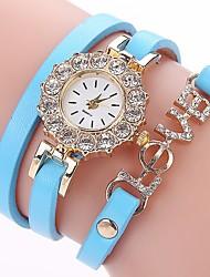 economico -Per donna Orologio casual Orologio alla moda Orologio braccialetto Simulato Triangolo Orologio Cinese Quarzo imitazione diamante PU Banda
