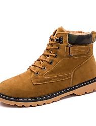 Недорогие -Для мужчин обувь Кашемир Зима Армейские ботинки Ботинки для Повседневные Черный Темно-синий Желтый