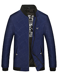 cheap -Men's Simple Casual Chic & Modern Jacket-Solid Colored,Modern Style
