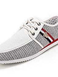 baratos -Homens sapatos Tecido Primavera / Verão Conforto Tênis Amarelo / Azul