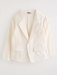 preiswerte -Jungen Anzug & Blazer Solide Baumwolle Langarm Weiß