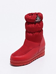 Women's Shoes Customized Materials Winter Snow Boots Boots Round Toe Mid-Calf Boots For Casual Red Black White