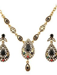 cheap -Women's Rhinestone Gemstone / Imitation Diamond Drop Jewelry Set 1 Necklace / Earrings - Classic / Fashion Gold Drop Earrings / Necklace