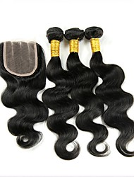 cheap -Indian Hair Remy Human Hair Body Wave Human Hair Weaves 4pcs