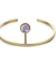 Žene Široke narukvice Jednostavan Ležerne prilike Osnovni Moda Kamen Pozlaćeni Circle Shape Jewelry Za Dnevno Spoj