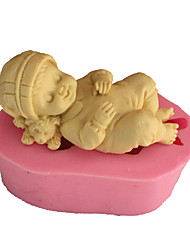 cheap -3D Sleeping Baby Soap Mold  Fondant Mold Cake Decoration Mold