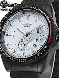 levne -WINNER Pánské Náramkové hodinky Módní hodinky Hodinky na běžné nošení Automatické natahování Kalendář Silikon Kapela Vintage Na běžné