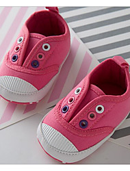 Baby Shoes Canvas Spring Fall Comfort First Walkers Sneakers For Casual Pink Blue Red White
