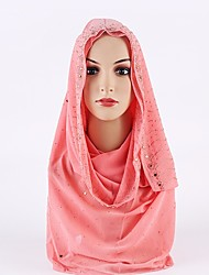 cheap -Women's Rayon Hijab Crystal/Rhinestone Spring, Fall, Winter, Summer Fuchsia Light Brown Khaki Royal Blue Lavender