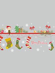 クリスマス カートゥン ウォールステッカー プレーン・ウォールステッカー 飾りウォールステッカー,ビニール ホームデコレーション ウォールステッカー・壁用シール For 壁 窓