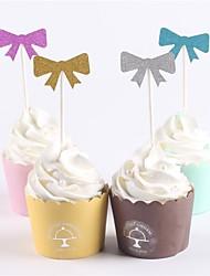 abordables -gâteau topper classique thème bébé douche nouveau bébé famille anniversaire rustique thème papier fête anniversaire opp