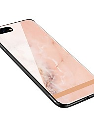 baratos -Capinha Para Apple iPhone X iPhone 8 Plus Estampada Capa traseira Mármore Macia Vidro Temperado para iPhone X iPhone 8 Plus iPhone 8
