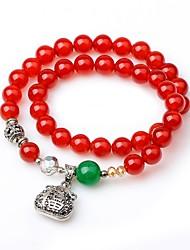 Kadın's Strand Bilezikler Wrap Bilezikler Onyx Basit Vintage Akik Circle Shape Mücevher Uyumluluk Balo