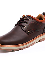 cheap -Men's Shoes Fabric Spring Fall Comfort Slouch Boots Oxfords Lace-up For Athletic Black Yellow Coffee