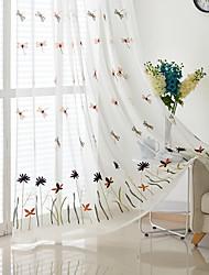 preiswerte -Schlaufen für Gardinenstange Ösen Schlaufen Zweifach gefaltet plissiert Window Treatment Böhmische, Stickerei Tierfell-Druck Schlafzimmer