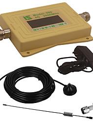 mini intelligent lcd affichage 4g980 2600 mhz téléphone portable répéteur de rappel avec l'antenne extérieure ventouse / antenne fouet