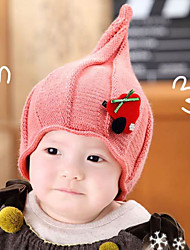 cheap -Girls Hats & Caps,Autumn Winter Sweater Red Blushing Pink