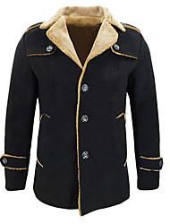 cheap -Men's Graphic Military Slim Jacket-Solid Colored