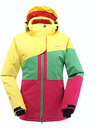 Недорогие -Жен. Лыжная куртка Теплый С защитой от ветра Пригодно для носки Антистатический Палки для хождения по снегу Лыжи Полиэфирная тафта