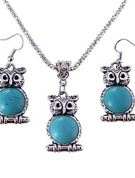 cheap -Women's Drop Earrings Pendant Necklaces Turquoise Animals Classic Vintage Daily Turquoise Alloy 1 Necklace Earrings