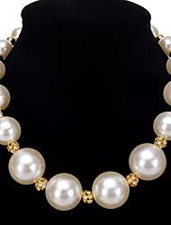 Недорогие -Жен. Классика Подарок Мода Elegant Ожерелья с подвесками Искусственный жемчуг Жемчуг Медь Ожерелья с подвесками , Свадьба Для вечеринок