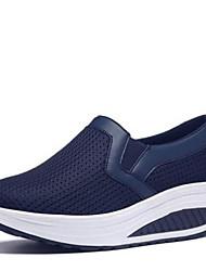 preiswerte -Damen Schuhe PU Frühling Komfort Sneakers Für Normal Schwarz Dunkelblau Grau Fuchsia