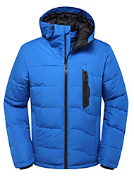 cheap -Men's Hiking Down Jacket Outdoor Winter Windproof Breathable Top Camping / Hiking Fishing Snowsports