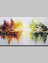 preiswerte -Handgemalte Abstrakt Horizontal, Einfach Modern Segeltuch Hang-Ölgemälde Haus Dekoration Ein Panel