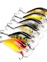 cheap -6 pcs Fishing Tools Fishing Accessories Hard Bait Plastic Sea Fishing Bait Casting Lure Fishing