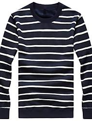cheap -Men's Plus Size Boho Hoodie & Sweatshirt - Striped Round Neck