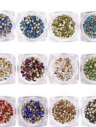 Недорогие -1g / box nail art нижняя часть наконечника алмаза 7 цвет прозрачный чистый цветной алмаз 12 цветной выбор