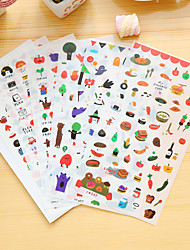 cheap -6 Pcs/Set Food Diary Sticker Phone Sticker Scrapbook Stickers