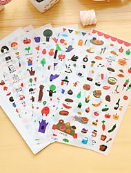 economico -6 pezzi / set adesivi diario cibo adesivo telefono adesivo scrapbook