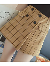 cheap -Women's Going out Daily Mini Skirts A Line Plaid Fall Winter