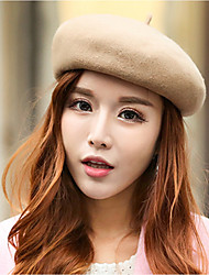 cheap -Women's Work Beret Hat - Solid Colored Jacquard Artistic Style