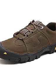 メンズ 靴 本革 レザー 秋 冬 コンフォートシューズ アスレチック・シューズ ハイキング リベット 用途 ブラック Brown カーキ色