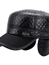 cheap -Women's PU Baseball Cap,Casual Solid Winter Pure Color