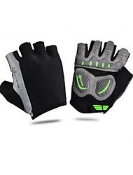 Недорогие -Спортивные перчатки Перчатки для велосипедистов Дышащий Без пальцев Сетка Велосипедный спорт / Велоспорт Универсальные