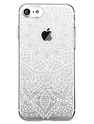 billiga -fodral Till Apple iPhone 7 Plus iPhone 7 Mönster Skal Mandala Mjukt TPU för iPhone X iPhone 8 Plus iPhone 8 iPhone 7 Plus iPhone 7 iPhone