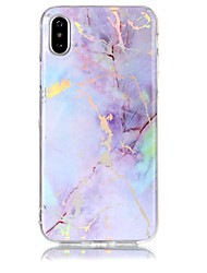 billige -Etui Til Apple iPhone X iPhone 8 IMD Mønster Bagcover Marmor Blødt TPU for iPhone X iPhone 8 Plus iPhone 8 iPhone 7 Plus iPhone 7 iPhone