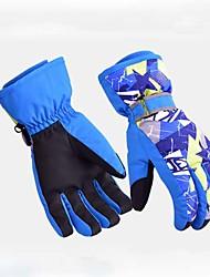 Недорогие -Зимние Лыжные перчатки Муж. Жен. Полный палец Сохраняет тепло Водонепроницаемость Нейлоновое волокно Лыжи Зима