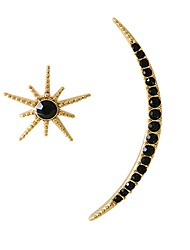 cheap -Women's Stud Earrings Basic Mismatch Crystal Alloy Moon Star Jewelry For Date Street