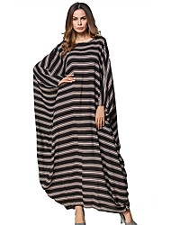 abordables -Femme Tunique Robe Rayé Maxi