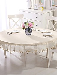 cheap -Round Table cloths Material Home Decoration Holiday Party 1