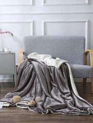 Недорогие -Супер мягкий, Ручная работа Однотонный Полиэстер / Хлопок одеяла