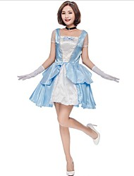Blanc de neige Princesse Une Pièce Robes Costumes de Cosplay Féminin Halloween Carnaval Nouvel an Fête / Célébration Déguisement