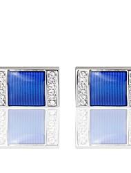 "cheap -1 ¼"" Diamond / Square Blue Cufflinks Copper Casual / Sporty / Costume Jewelry Men's Costume Jewelry For Wedding"