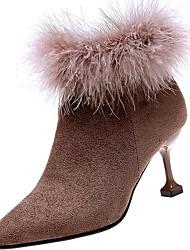 preiswerte -Damen Schuhe PU Winter Komfort Pumps Stiefel Spitze Zehe für Büro & Karriere Schwarz Gelb Khaki