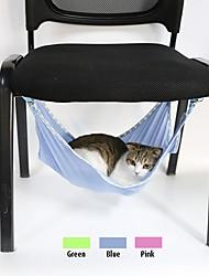 Недорогие -Кошка Кровати Животные Коврики и подушки Однотонный Дышащий Зеленый Синий Розовый Для домашних животных