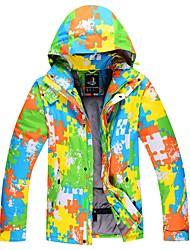 cheap -Men's Ski Jacket Warm, Waterproof, Windproof Skiing / Ski / Snowboard Cotton, Polyster Down Jacket Ski Wear